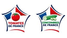 Logos des labels tomates et concombres de France